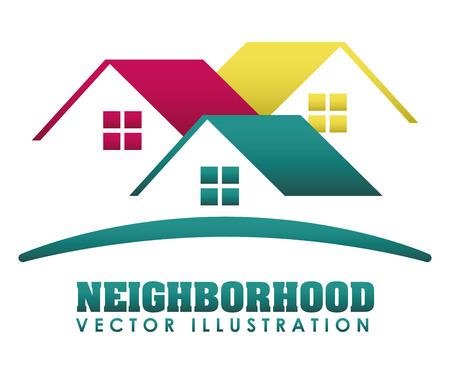 sousedství design ilustrace