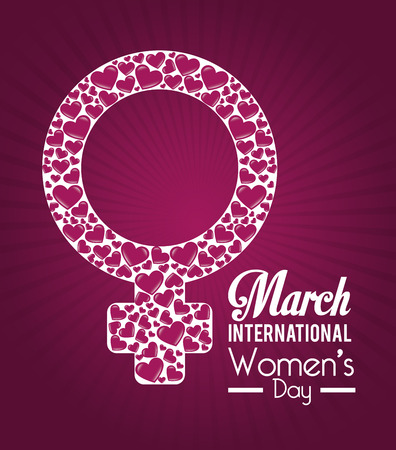 Womens day card design illustration. Vector