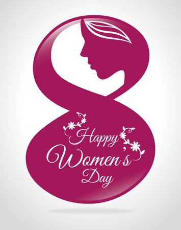8 march: Womens day card design illustration. Illustration