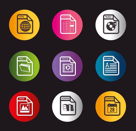 spreadsheet: Spreadsheet icons design illustration. Illustration