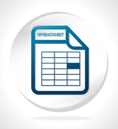 spreadsheets: Spreadsheet design illustration.