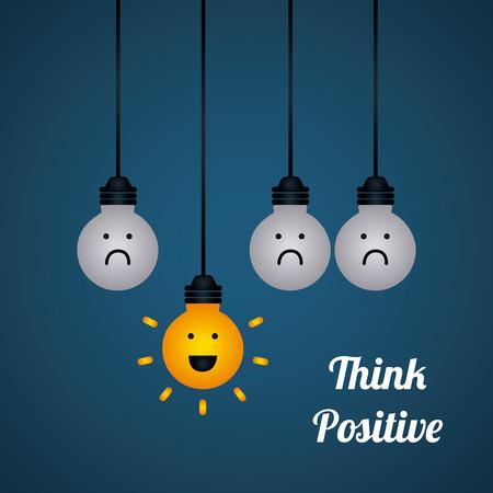 dobrý: Mysli pozitivně designu Ilustrace