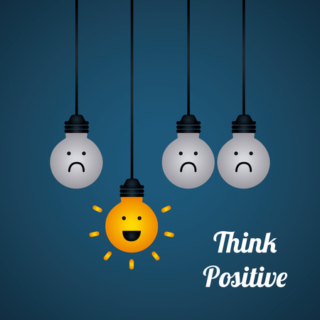 Positiv denken Design Standard-Bild - 36634423