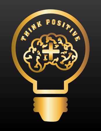 think positive design, vector illustration eps10 graphic Illustration