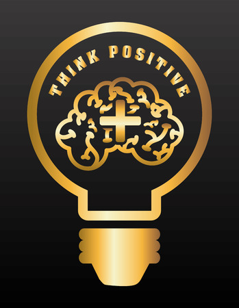 think positive design, vector illustration eps10 graphic Çizim
