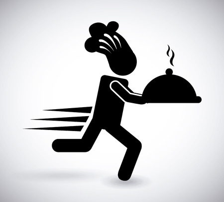 Lebensmittel-Lieferservice-Design Illustration