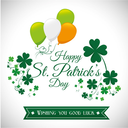 St patricks day card design