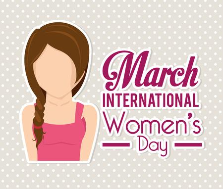 Diseño de la tarjeta del día de la Mujer Foto de archivo - 36609609