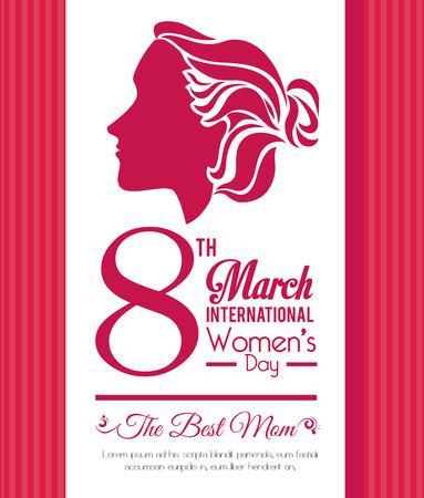 Diseño de la tarjeta del día de la Mujer Foto de archivo - 36634210