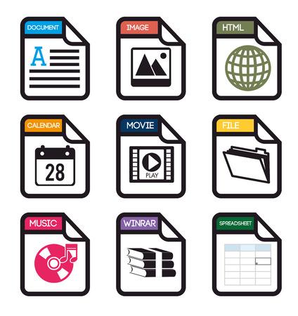 spreadsheet: Spreadsheet design, vector illustration.