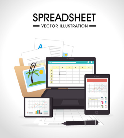 research paper: Spreadsheet design illustration.