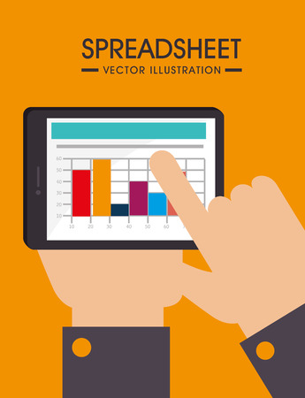 spreadsheet: Spreadsheet design illustration.