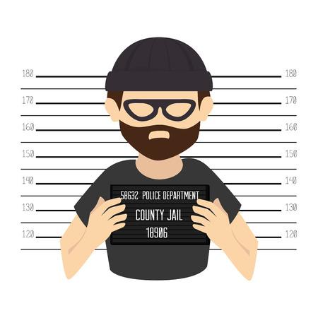 judgments: Criminal design over white background