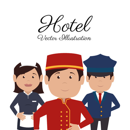 hotel workers design illustration. Illustration