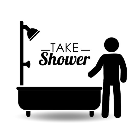 Take Shower design illustration.