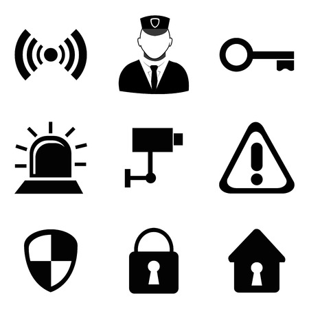 Security design over white background Illustration
