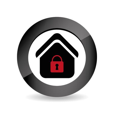Home Security ontwerp op een witte achtergrond