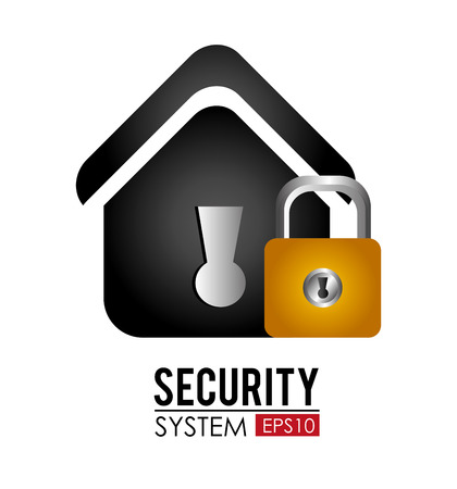 home security: Home Security system design over white background