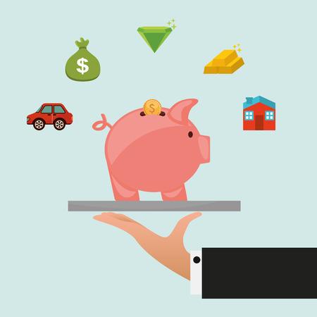 money icon design, vector illustration  Vector