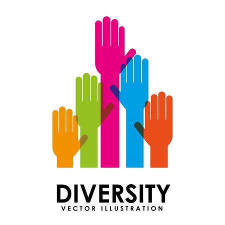 多様性コンセプト デザイン、ベクトル イラスト eps10 グラフィック  イラスト・ベクター素材