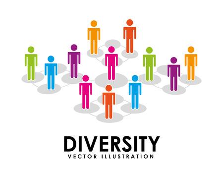 多様性のコンセプト デザイン、ベクトル イラスト