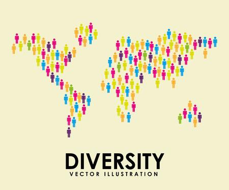 diversity: diversity concept design, vector illustration eps10 graphic Illustration