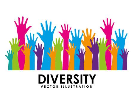 diseño de concepto de diversidad, ejemplo gráfico del vector eps10