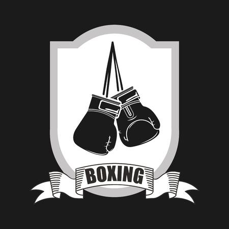 boxing emblem design, vector illustration