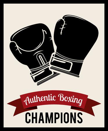 boxing emblem design, vector illustration eps10 graphic Illustration