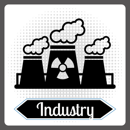 reactor: nuclear industry design, vector illustration