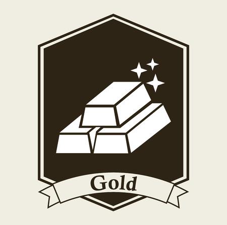lingot or: conception de lingots d'or, vecteur illustration graphique eps10