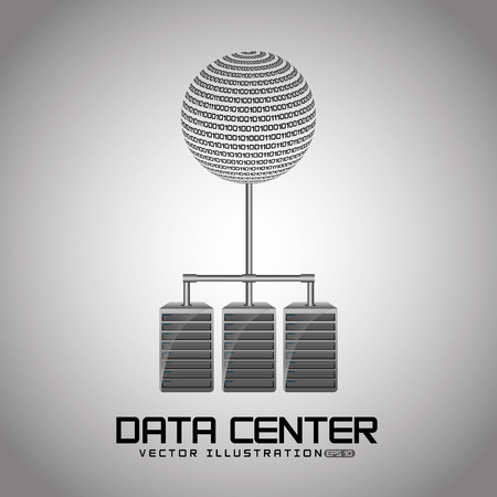 business center: data center design, vector illustration Illustration