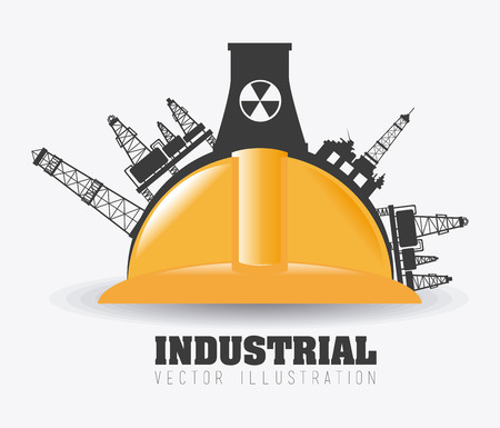 industry concept: Industry design, vector illustration.