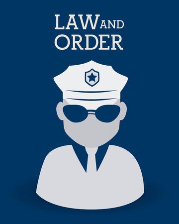 judgments: Law design over blue background, vector illustration. Illustration