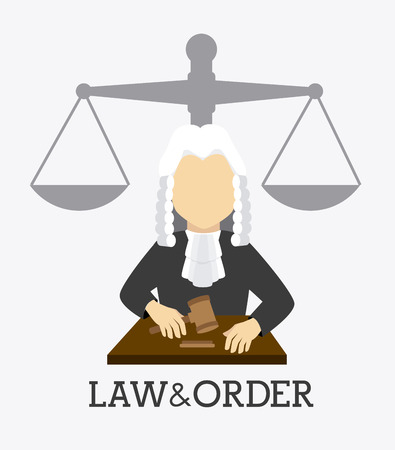 trial balance: Law design over white background, vector illustration. Illustration