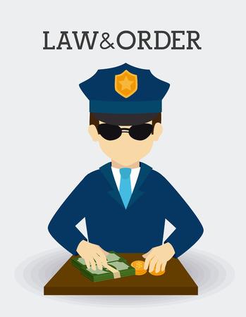 punishing: Law design over white background, vector illustration. Illustration