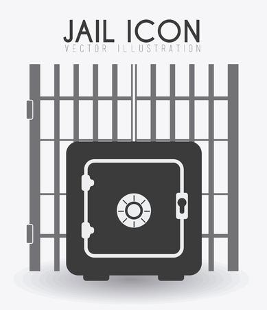strongbox: Law design over white background, vector illustration. Illustration