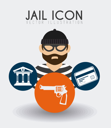 Law design over white background, vector illustration. Vector