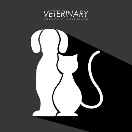 silueta de gato: dise�o lindo de la mascota, ejemplo gr�fico del vector eps10