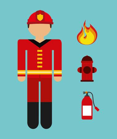 firefighter design, vector illustration eps10 graphic Vector
