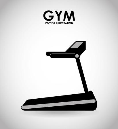statics: gym icon design, vector illustration eps10 graphic