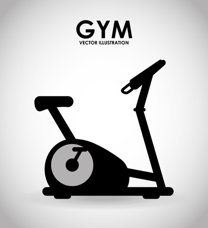 static bike: gym icon design, vector illustration eps10 graphic