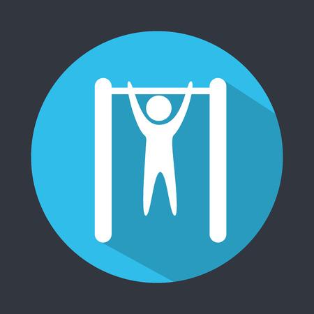 cross bar: gym icon design, vector illustration eps10 graphic