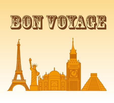 bon: bon voyage design, vector illustration  graphic