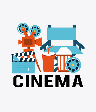 cinema concept design, vector illustration graphic