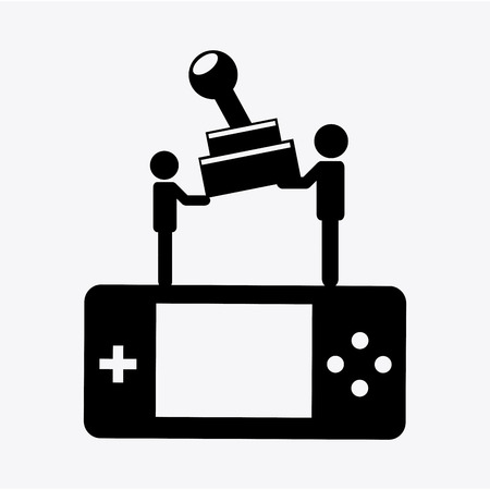 gamers: video gamers design, vector illustration  graphic