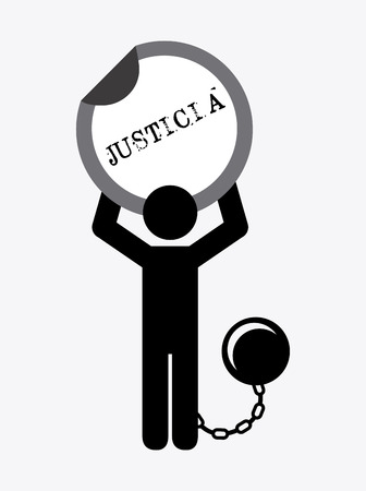 fetter: justice concept design, vector illustration  graphic