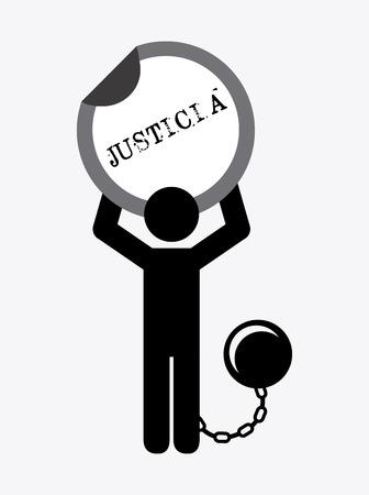 justice concept design, vector illustration  graphic