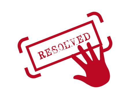 resolved: justice concept design, vector illustration  graphic