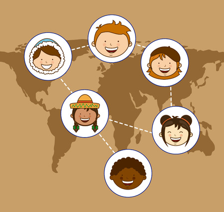 multiethnic community design, vector illustration  graphic Vector